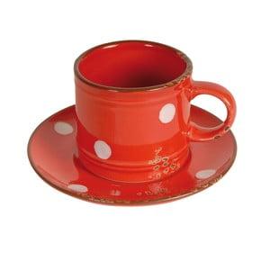 Filiżanka ze spodkiem Antic Line Cup Red
