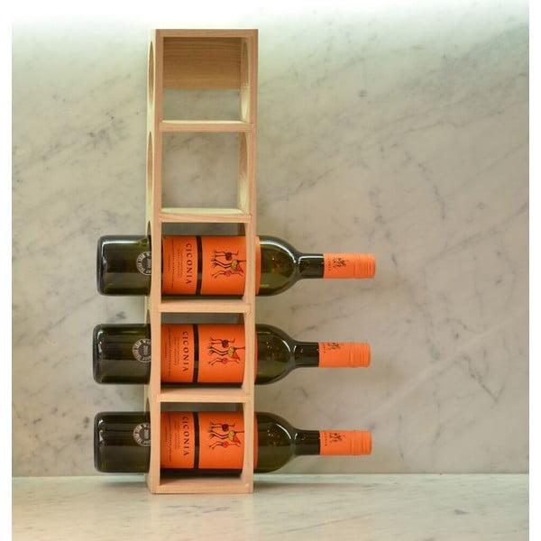 Stojak na wino z drewna dębowego Wireworks Wine