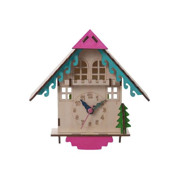 Drewniany zegar do złożenia House