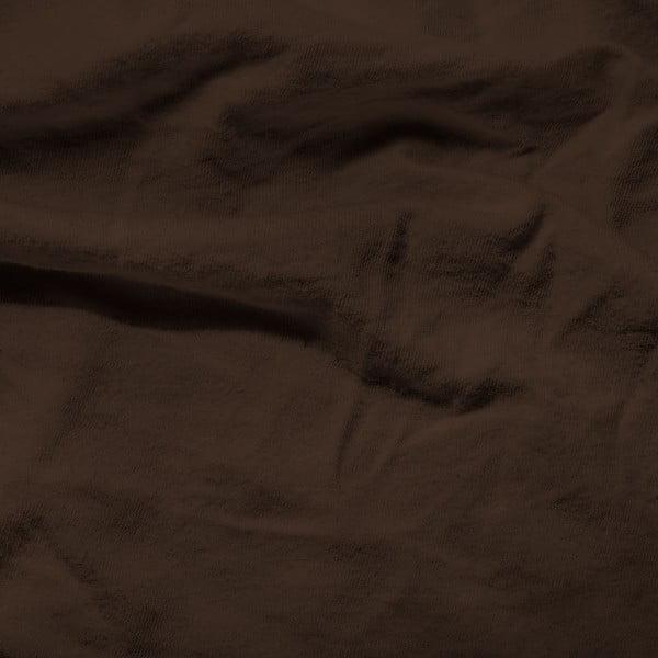 Ciemnobrązowe prześcieradło elastyczne Homecare, 140x200 cm