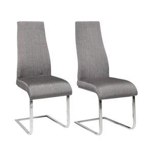 Zestaw 2 szarych krzeseł Støraa Teresa