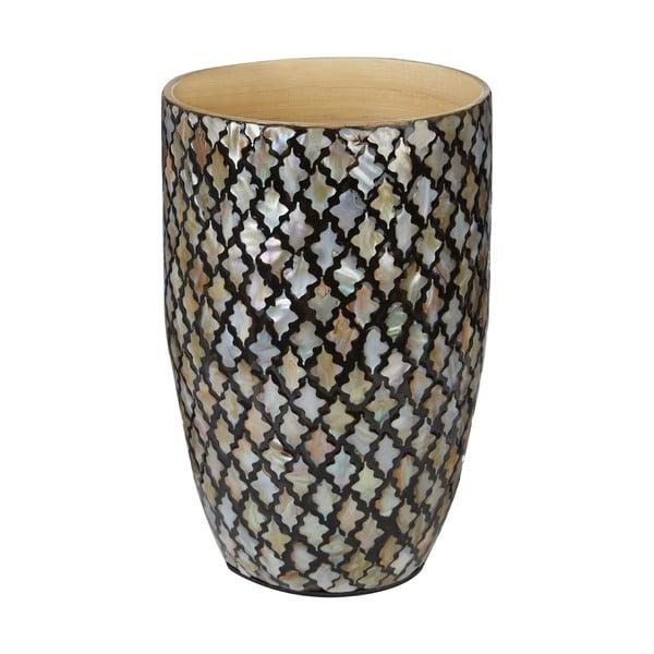 Bambusowy wazon z mozaiką Complements Oval Vase