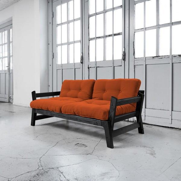Sofa rozkładana Karup Step Black/Orange