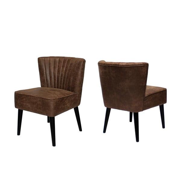 Brązowe krzesło Canett Winston