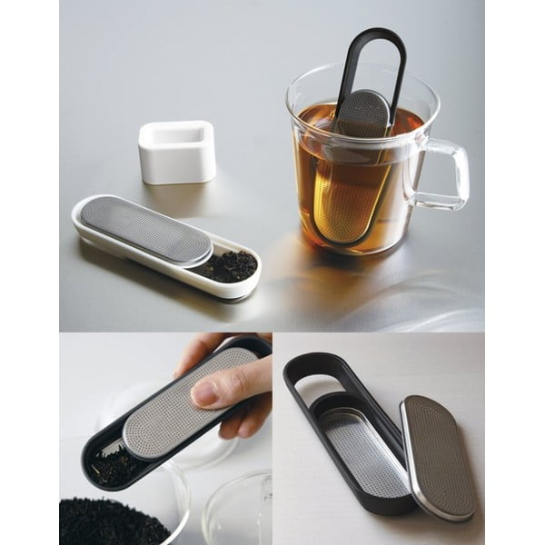 Sitko do herbaty Loop, białe