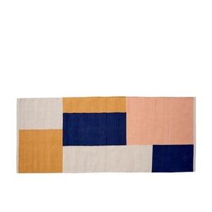 Dywan bawełniany Södahl Block, 75x180 cm