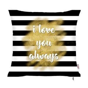 Czarno-biała poszewka na poduszkę Apolena Stripes, 43x43 cm