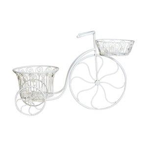 Biały kwietnik żelazny w kształcie roweru Crido Consulting Bicycle