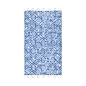 Niebieski ręcznik hammam Kate Louise Bianca, 165x100cm