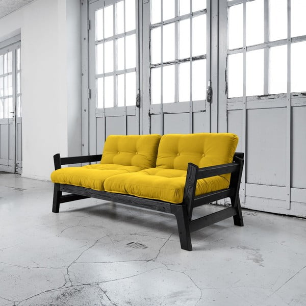 Sofa rozkładana Karup Step Black/Amarillo