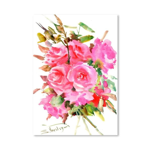 Plakat Tea Roses (projekt Suren Nersisyan)