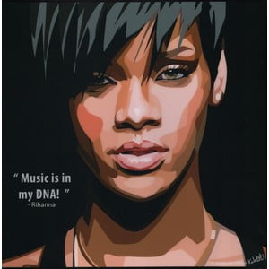 "Obraz ""Rihanna - Music in my DNA"""