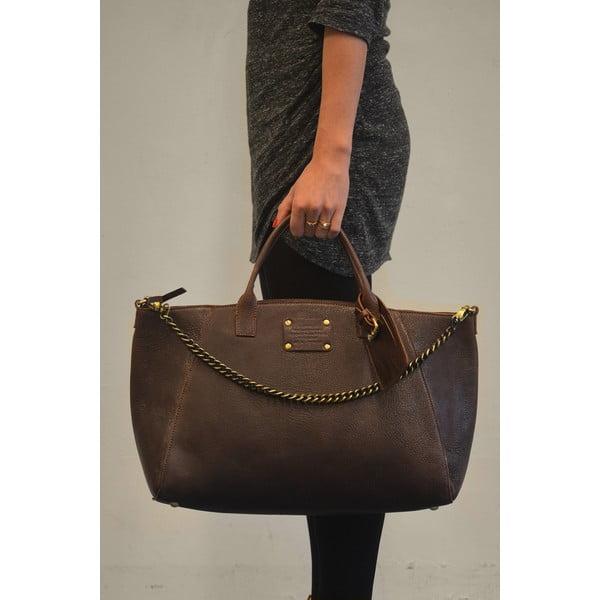 Skórzana torebka Fly Violet maxi, czekoladowa