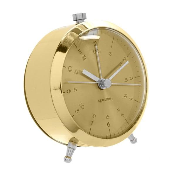 Złoty budzik Present Time Button