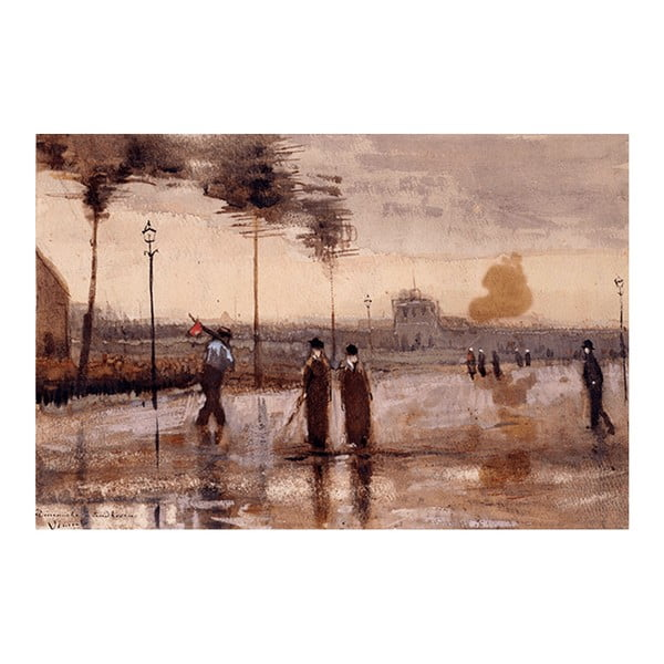 Reprodukcja obrazu Vincenta van Gogha - A Sunday in Eidhoven, 90x60 cm