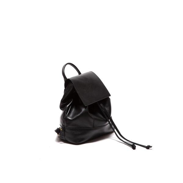 Czarny skórzany plecak Sofia Cardoni Fredo