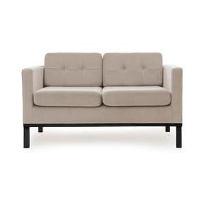 Bezowa sofa dwuosobowa z czarnymi nogami Vivonita Jonan
