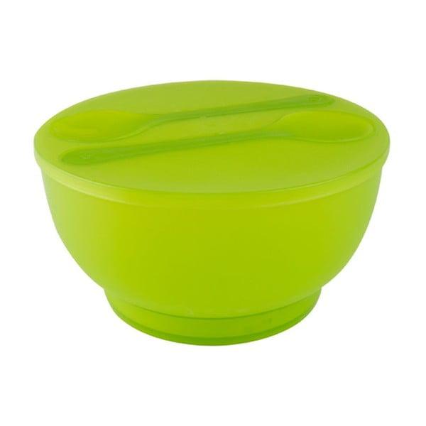 Miska sałatkowa ze sztućcami Green Ball