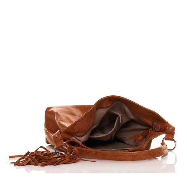 Skórzana torebka Hobo Tan