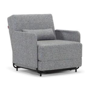 Szary fotel rozkładany Innovation Fluxe