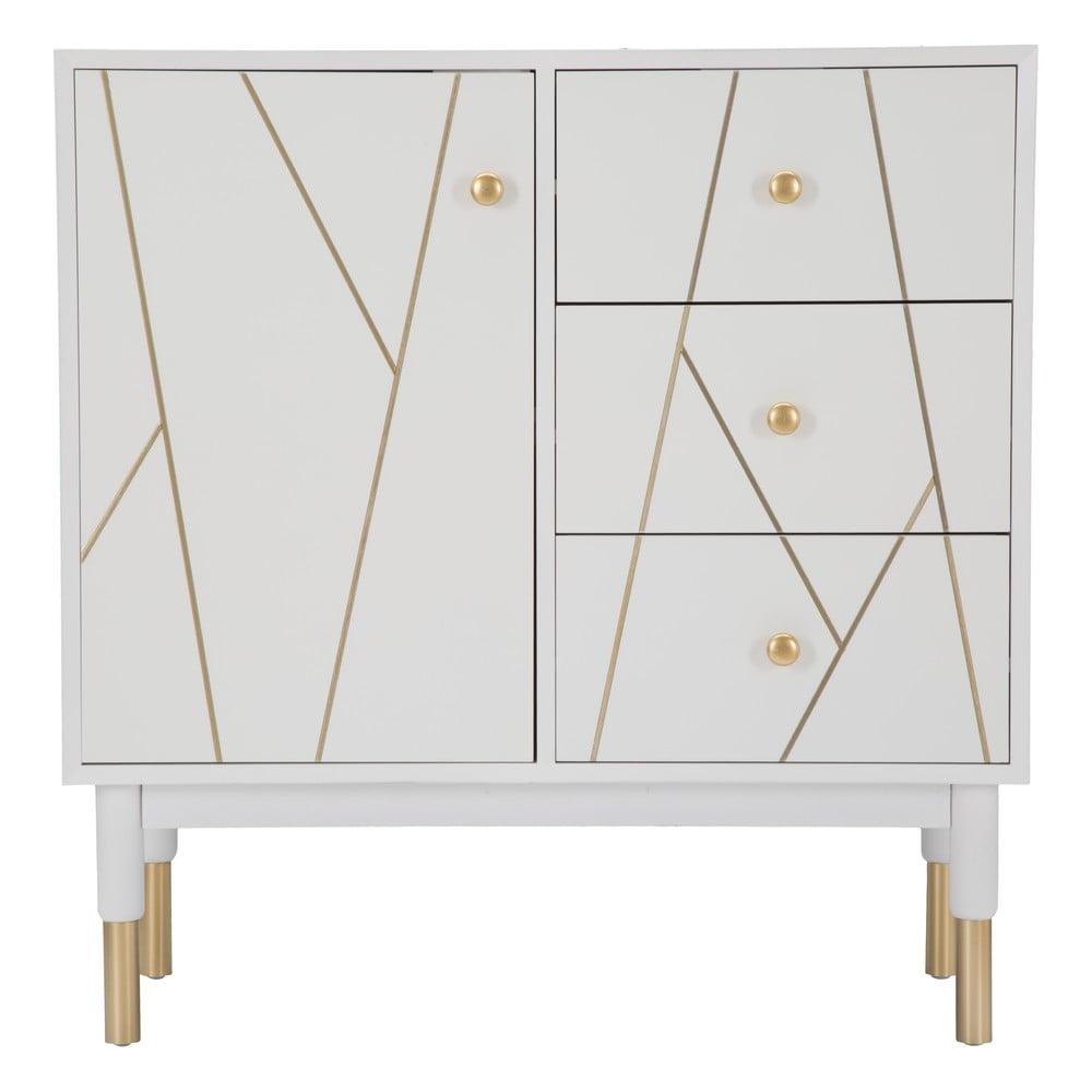 Biała szafka Mauro Ferretti Luxy, szerokość 80 cm