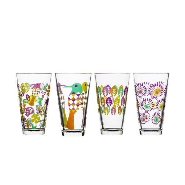 Zestaw 4 fioletowych szklanek Fantasy, 300 ml