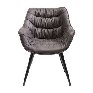 Ciemnoszare krzesło Kare Design Armlehnstuhl