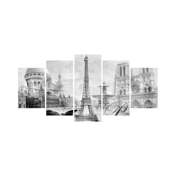 Wieloczęściowy obraz Black&White no. 67, 100x50 cm