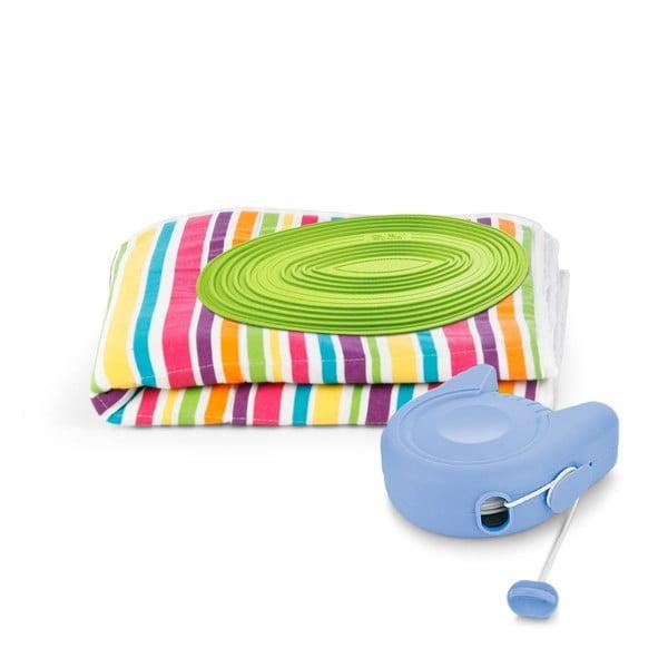 Zestaw: podkładka do prasowania i sznur na pranie Bonita Multi Strips Green