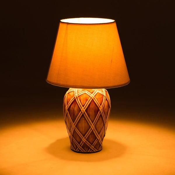 Ceramiczna lampa stołowa Brown