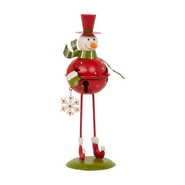 Dekoracja Archipelago Red Bell Snowman, 21,5 cm