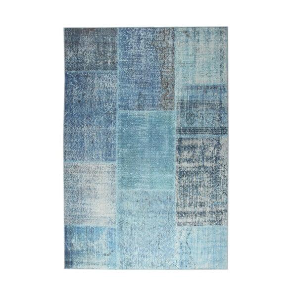Niebieski dywan EkoRugs Oina, 75x300cm