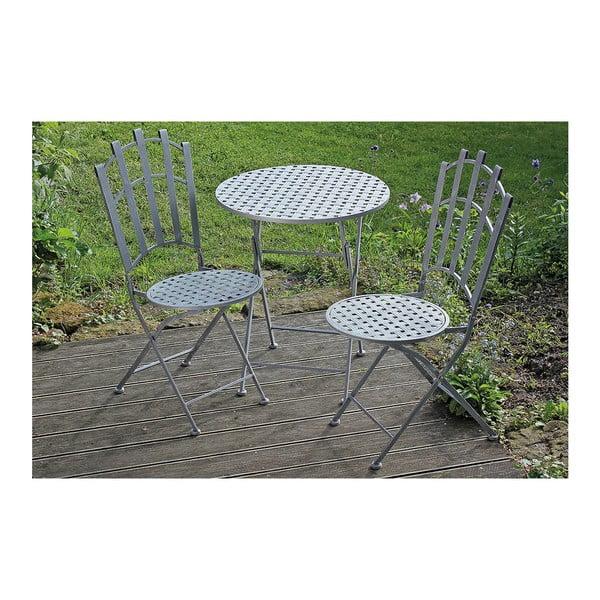 Zestaw ogrodowy dwóch krzeseł i stolika Nina