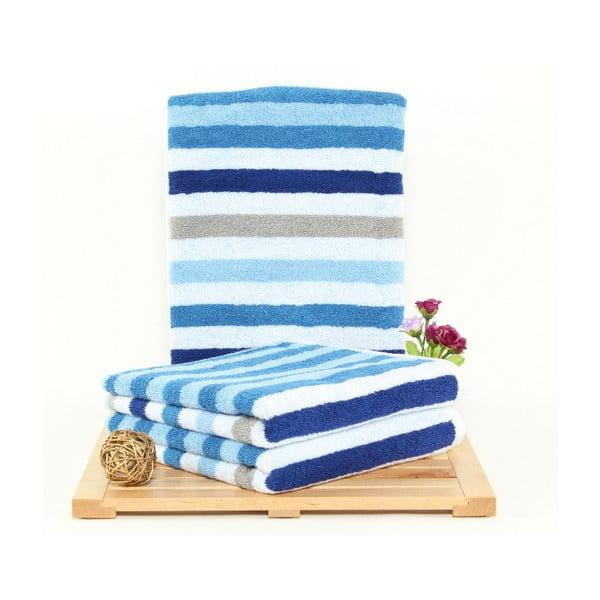 Zestaw 3 ręczników kąpielowych Peggy French Blue, 50x100 cm