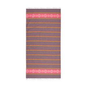 Ręcznik hammam Loincloth Pink/Burgundy, 80x170 cm