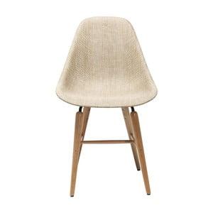 Kremowe krzesło Kare Design Forum