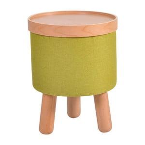 Zielony stołek ze zdejmowanym blatem Garageeight Molde, ⌀35cm