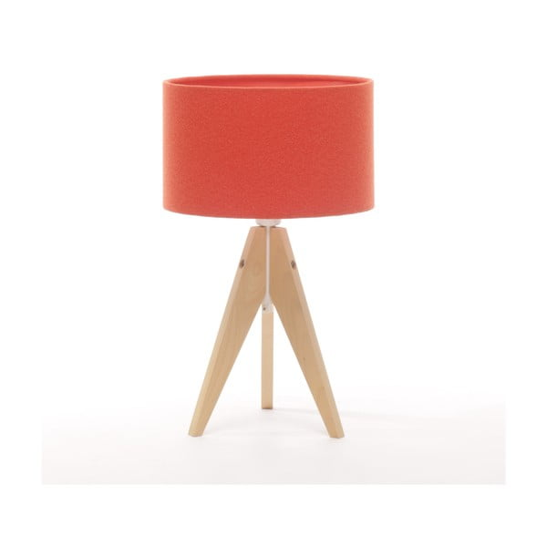 Lampa stołowa Artista Natural Birch/Red Felt, 28 cm