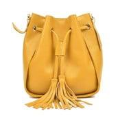 Żółta skórzana torebka Carla Ferreri Jessie