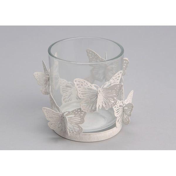 Świecznik White Butterfly