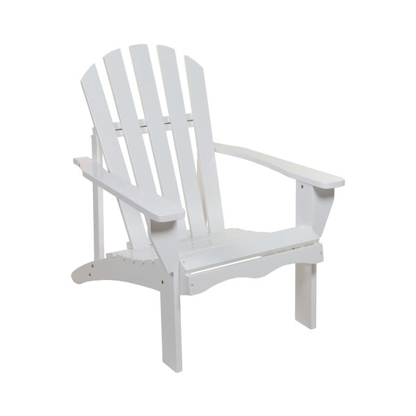 Biały fotel z drewna topoli Santiago Pons