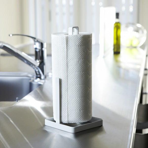Biały stojak na ręczniki papierowe Yamazaki Tower