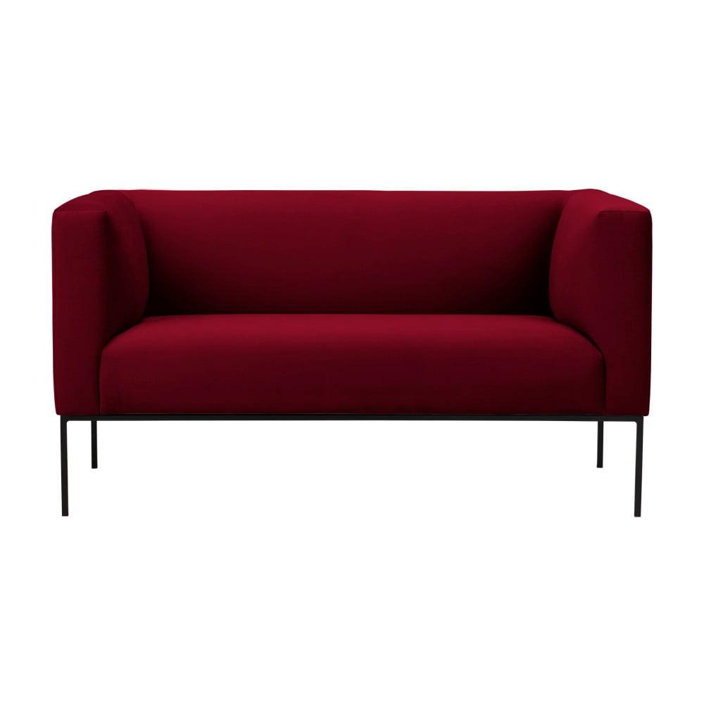 Czerwona aksamitna 2-osobowa sofa Windsor & Co Sofas Neptune