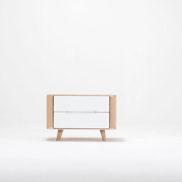 Dębowa szafka nocna Gazzda Ena One, 60x42 cm