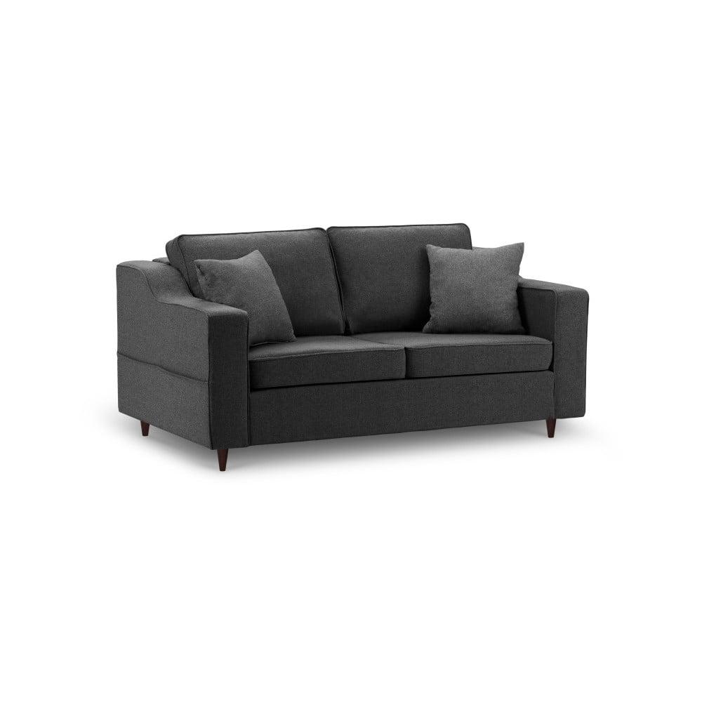 Antracytowa sofa 2-osobowa Mazzini Sofas Narcisse