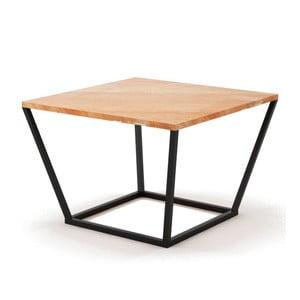 Beżowy stolik z marmuru z czarną konstrukcją Absynth Noi Spain, mały