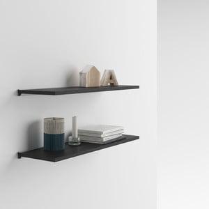 Zestaw 2 półek z dekorem ciemnego drewna jesionu MobiliFiver Mena, 60x15 cm
