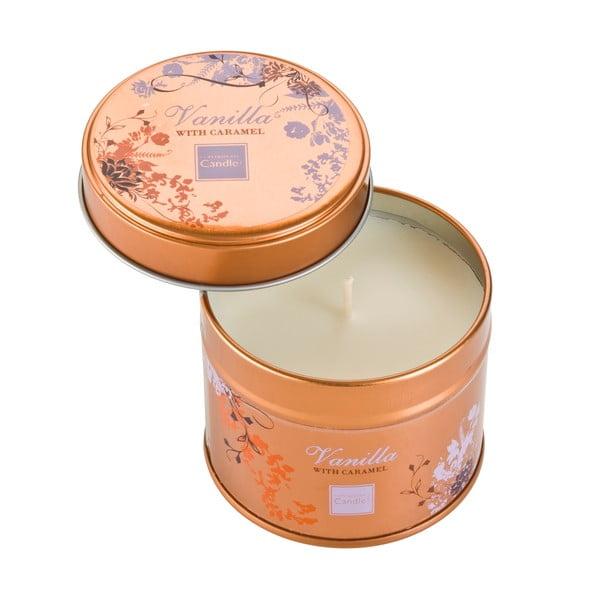 Świeczka zapachowa w puszce Vanilla with Caramel, czas palenia 32 godziny