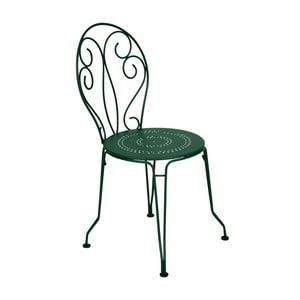 Zielone krzesło metalowe Fermob Montmartre