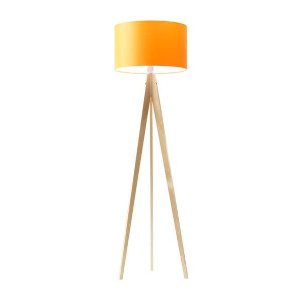 Pomarańczowa lampa stojąca 4room Artist, brzoza, 150 cm